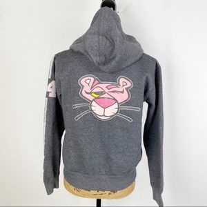 Pink Panther Full Zip Hoodie Charcoal Gray